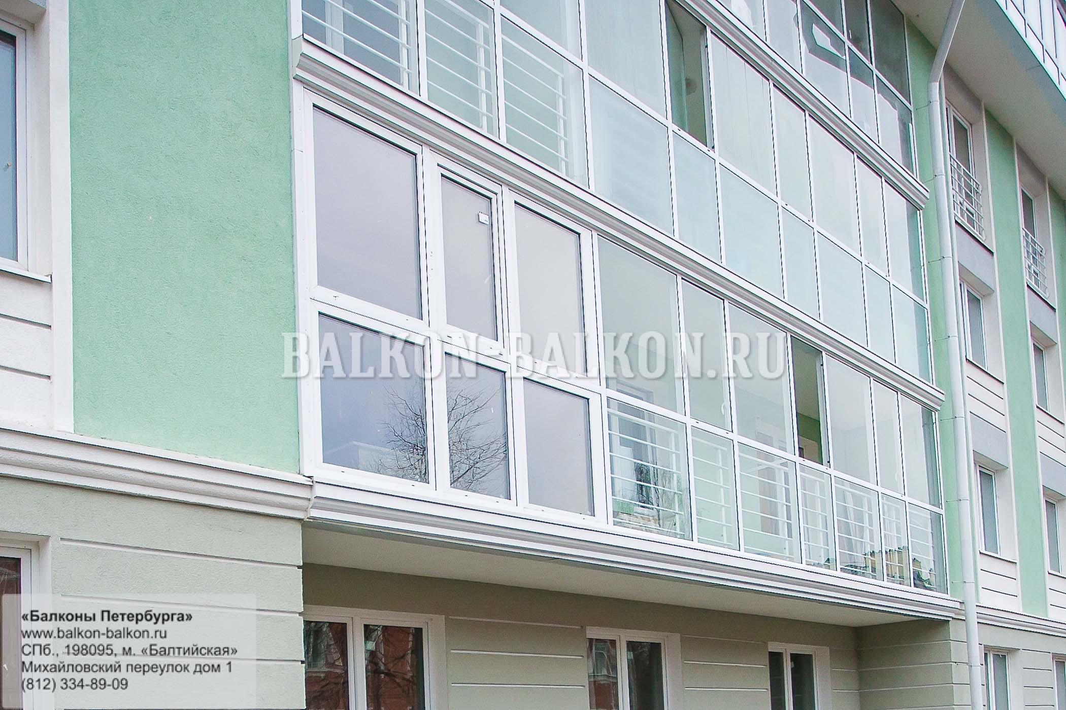 Остекление балконов в пушкине ремонт балконов украине